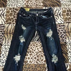 Machine Brand Dark Blue Jeans